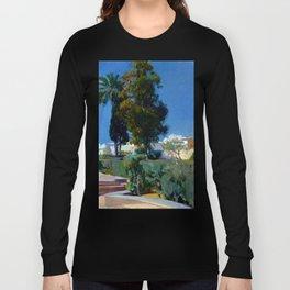 Joaquin Sorolla y Bastida Corner of the Garden, Alcazar, Sevilla Long Sleeve T-shirt