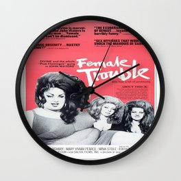 Vintage Female Trouble Movie Poster Wall Clock