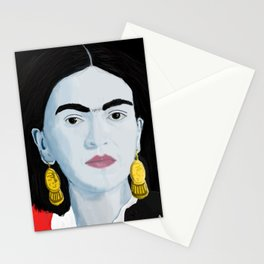 Frida with Black Background Stationery Cards