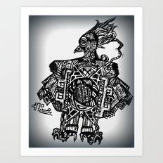 Robotic Bird Art Print