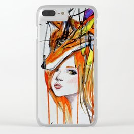 The Lady and the Fox Clear iPhone Case