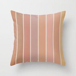 Gradient Arch - Natural Tones Throw Pillow