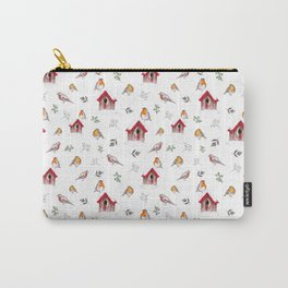 Winter Robins Carry-All Pouch
