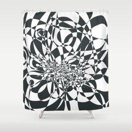 Doodle burst Shower Curtain