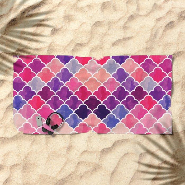 Watercolor Lovely Pattern VVXII Beach Towel