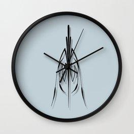 Black pinstriping pattern Wall Clock