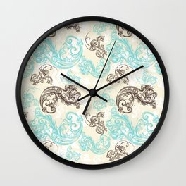 Baroque ornament. Classic design in luxury style Wall Clock