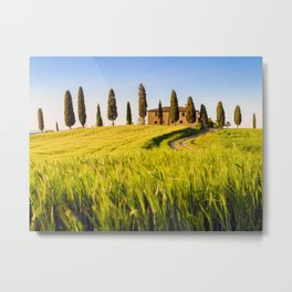 Farmhouse in Tuscany Italy Metal Print
