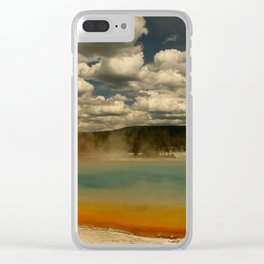 Sunset Lake Under A Cloudy Sky Clear iPhone Case