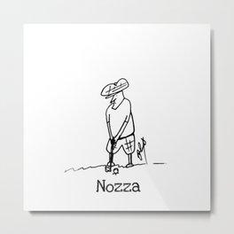 Golfing Nozza Metal Print