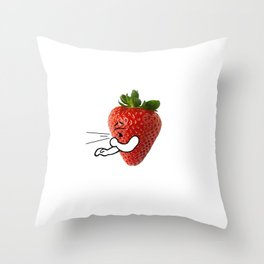 STRAWBERRY COUGH Throw Pillow