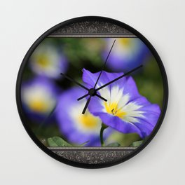 Morning Glory named Blue Ensign Wall Clock