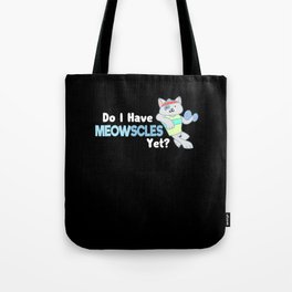 Cat fitness T-Shirt I installing muscles Tote Bag