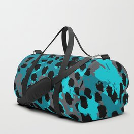 Cheetah Spots in Blues and Gray Grey Duffle Bag