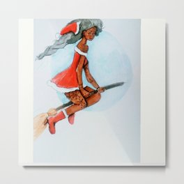 Mrs claus Metal Print