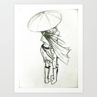 sketch Art Prints featuring Sketch by Kate Does Art