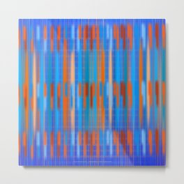 Stripes Soft and Crisp Metal Print