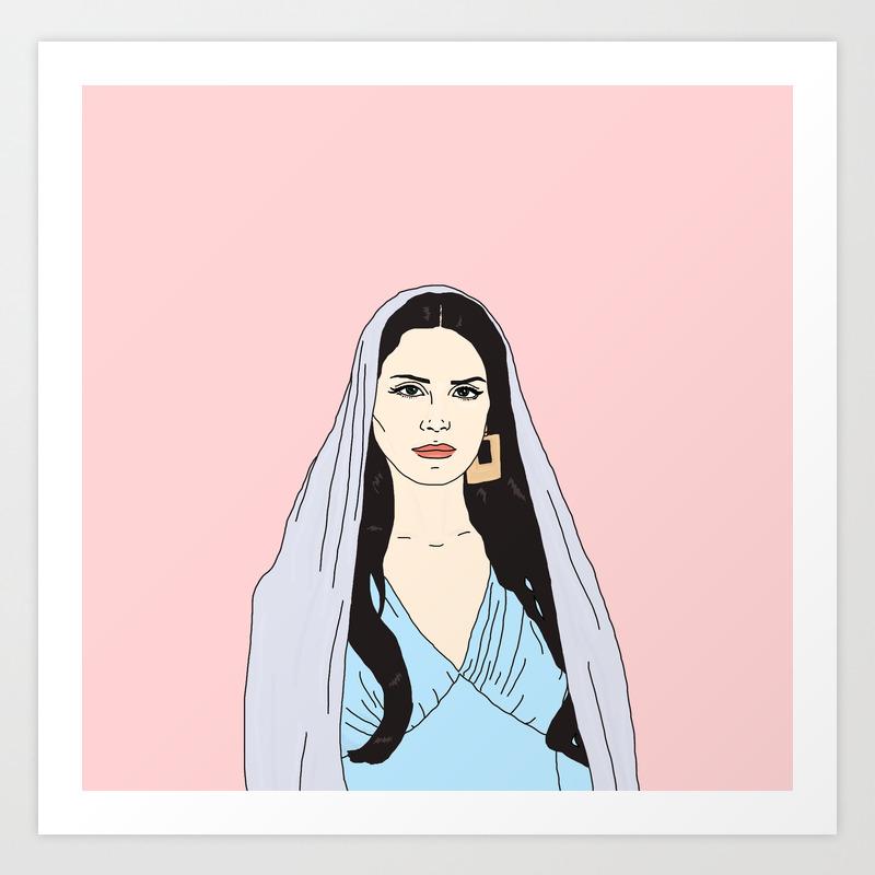 Lana Delrey Art Print By Mathildesahlholdt Society6