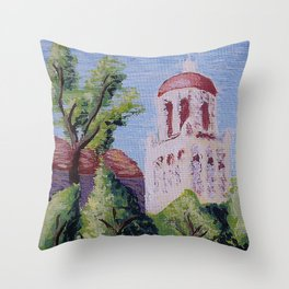 Stanford Clocktower Throw Pillow