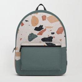 Terrazzo Texture Antique Green #1 Backpack