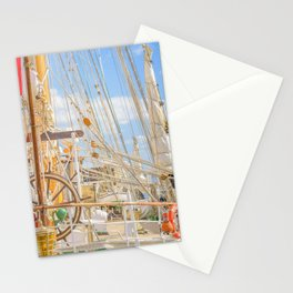 Sailing Ship Naval School Parked at Port Stationery Cards