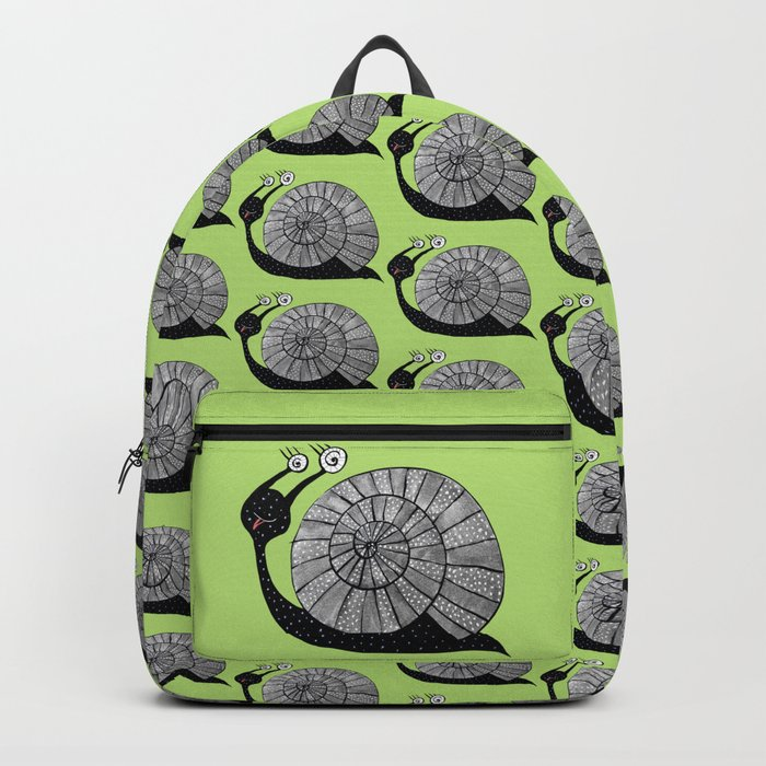 Cartoon Snail With Spiral Eyes Backpack