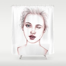 Just Kidding Shower Curtain