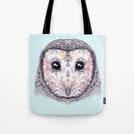 Sugar Skull Labyrinth Owl Tote Bag