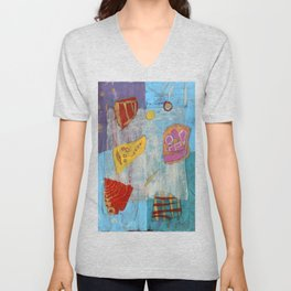 Colours and Shapes (Abstract) Unisex V-Neck