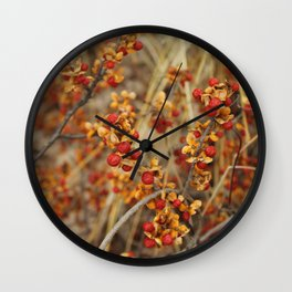 Fall's End Wall Clock