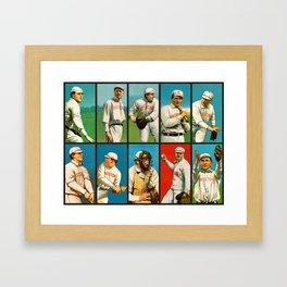Vintage Boston Baseball Cards Framed Art Print