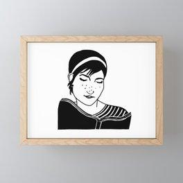 Ezra, reading Framed Mini Art Print