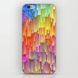 Vibrant Rainbow Cascade Design iPhone Skin