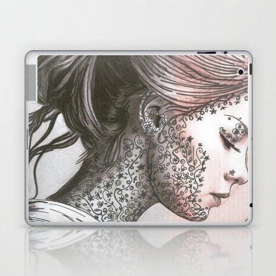 Flower Face  Laptop & iPad Skin
