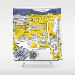 PITTSBURGH University map PENNSYLVANIA  dorm decor Shower Curtain