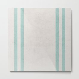 french linen - robins egg blue Metal Print
