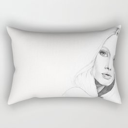 deer girl Rectangular Pillow