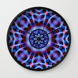 Circular futuristic abstract shapes of silver colors. Images from outside this world. Wall Clock