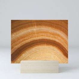 Natural Stone Pattern in Orange Mini Art Print