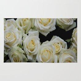 White Roses Rug
