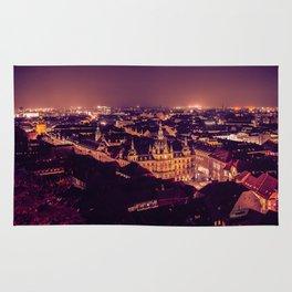 Night view of Graz city Rug