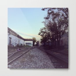 Bushwick Tracks Metal Print