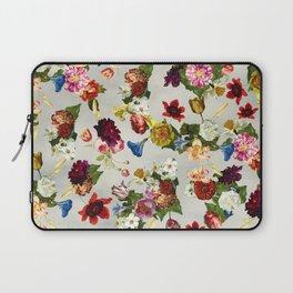 Flowery (white version) Laptop Sleeve