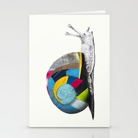 snail Stationery Cards featuring Snail by Sary and Saff