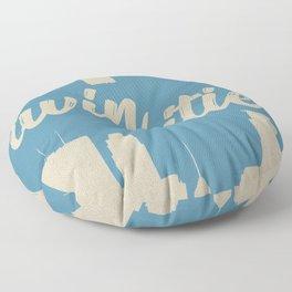 Twins Cities Skylines | Minneapolis and Saint Paul, Minnesota Floor Pillow