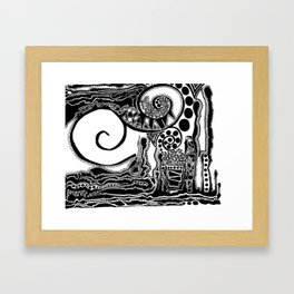 Together, We Are Fossils by Kaitlyn Larson Framed Art Print