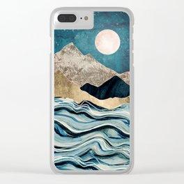 Indigo Sea Clear iPhone Case
