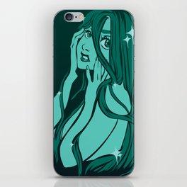 green mermaid iPhone Skin