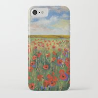poppies iPhone & iPod Cases featuring Poppies by Michael Creese