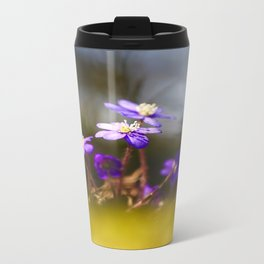 Sweetest Spring Blossom Hepatica Forest #decor #society6 Travel Mug